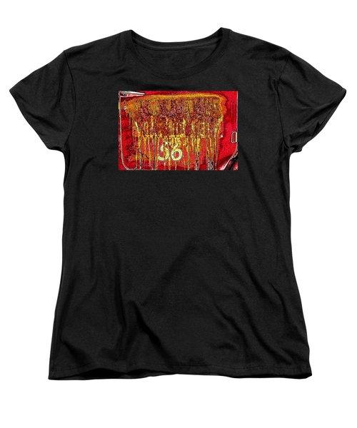 Women's T-Shirt (Standard Cut) featuring the photograph Tarkington Vol Fire Dept 56 by Bartz Johnson