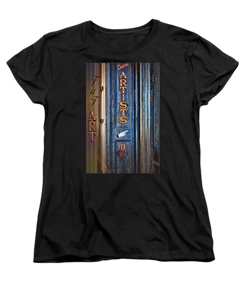 Women's T-Shirt (Standard Cut) featuring the photograph Tat Art by Larry Bishop