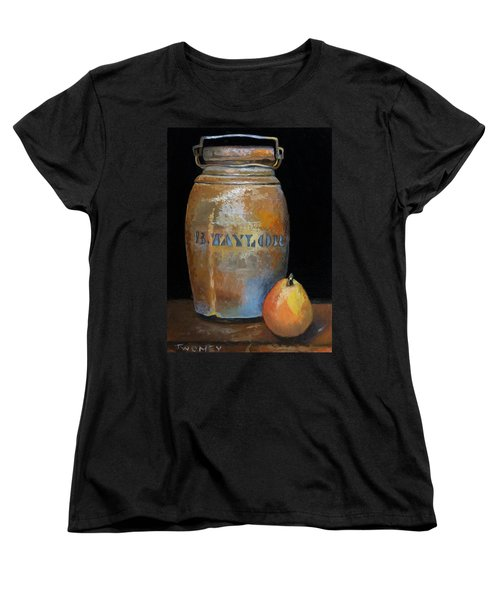 Taylor Jug With Pear Women's T-Shirt (Standard Cut) by Catherine Twomey