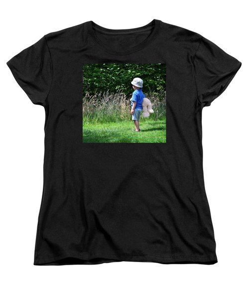 Women's T-Shirt (Standard Cut) featuring the photograph Teddy Bear Walk by Keith Armstrong