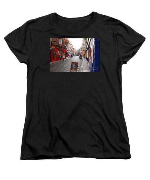 Women's T-Shirt (Standard Cut) featuring the photograph Temple Bar by Mary Carol Story