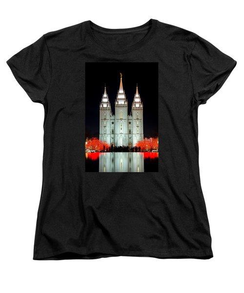 Temple Lights Women's T-Shirt (Standard Cut) by Dustin  LeFevre