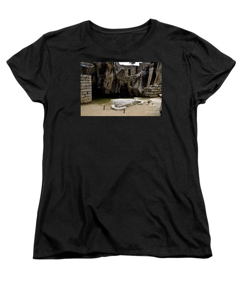 Temple Of The Condor Women's T-Shirt (Standard Cut) by Kathy McClure