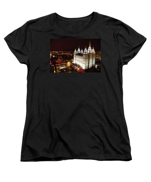 Temple Square Women's T-Shirt (Standard Cut) by David Andersen