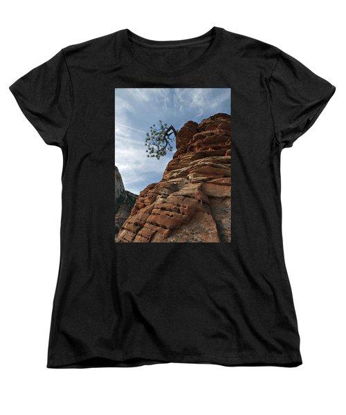 Women's T-Shirt (Standard Cut) featuring the photograph Tenacity by Joe Schofield