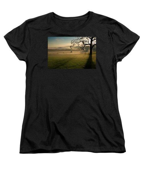 Tennessee Landscape Women's T-Shirt (Standard Cut) by Melinda Fawver