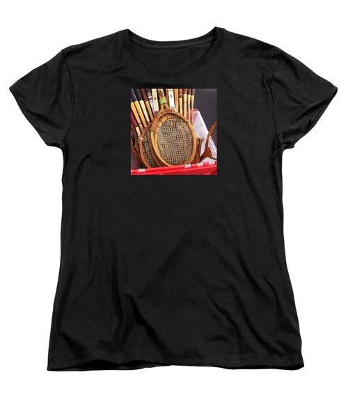 Tennis Anyone Women's T-Shirt (Standard Cut) by Art Block Collections