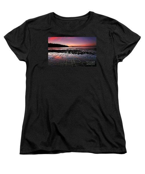 Women's T-Shirt (Standard Cut) featuring the photograph Tesselated Pavement Sunrise by Bill  Robinson