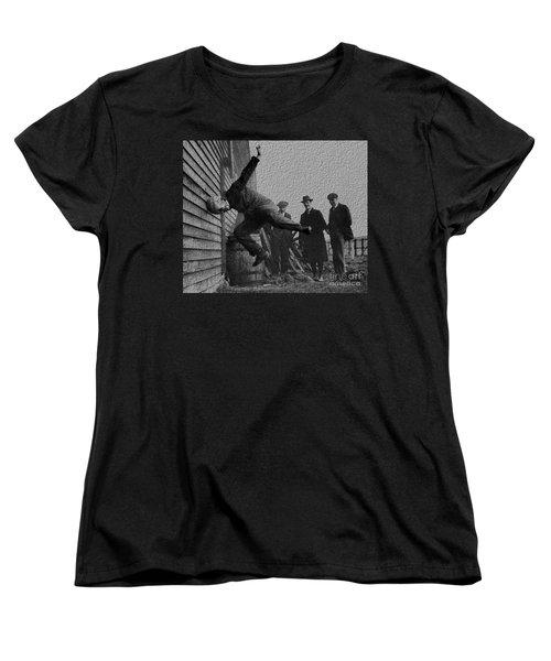 Testing Football Helmets In 1912 Ouchhhhh Women's T-Shirt (Standard Cut) by R Muirhead Art