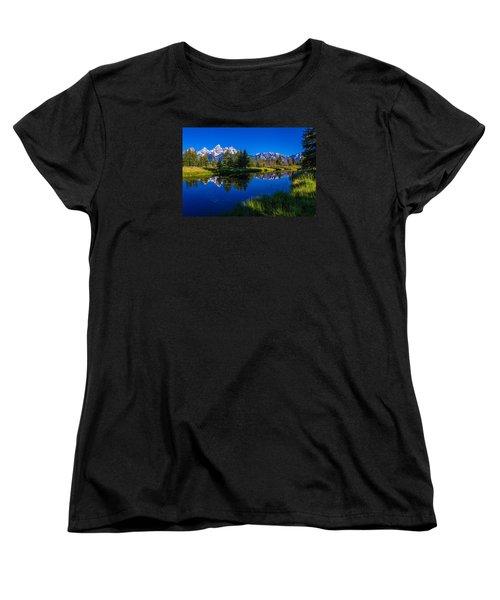 Teton Reflection Women's T-Shirt (Standard Cut) by Chad Dutson
