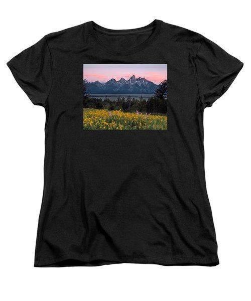 Teton Spring Women's T-Shirt (Standard Cut) by Leland D Howard