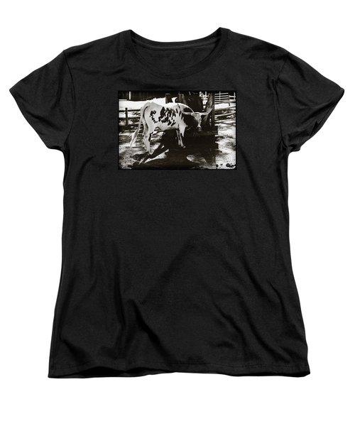 Texas Longhorn Women's T-Shirt (Standard Cut) by Liane Wright