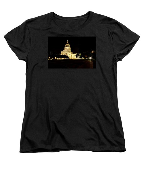Texas State Capitol Women's T-Shirt (Standard Cut) by Dave Files