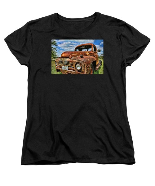 Women's T-Shirt (Standard Cut) featuring the photograph Texas Truck by Daniel Sheldon