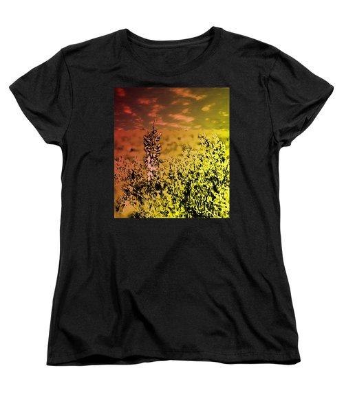 Women's T-Shirt (Standard Cut) featuring the photograph Texas Yucca Flower by Bartz Johnson