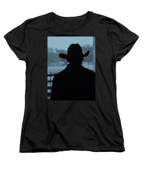Women's T-Shirt (Standard Cut) featuring the photograph The American Cowboy by John Glass