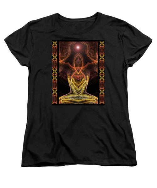 The Angel Of Meditation Women's T-Shirt (Standard Cut) by Diana Haronis