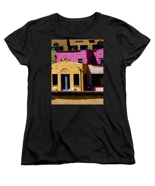 Women's T-Shirt (Standard Cut) featuring the photograph The Beach House by Jim Thompson