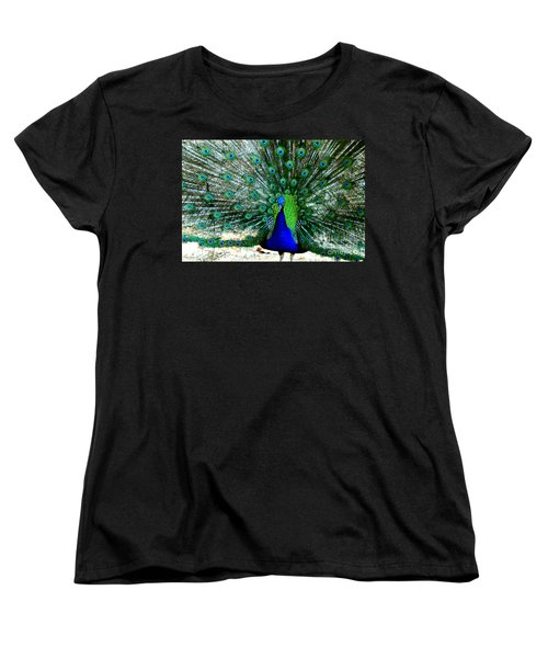 Women's T-Shirt (Standard Cut) featuring the photograph The Beautiful Plumage by Kathy  White