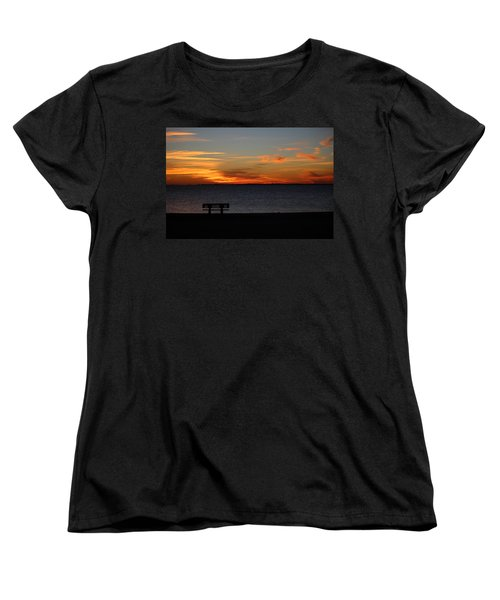 Women's T-Shirt (Standard Cut) featuring the photograph The Bench by Faith Williams