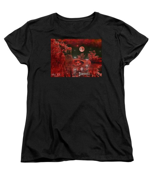 Women's T-Shirt (Standard Cut) featuring the photograph The Blood Moon by Michael Rucker
