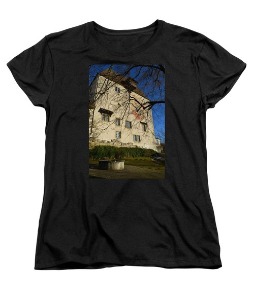 Women's T-Shirt (Standard Cut) featuring the photograph The Castle Greets A Sunny Day by Felicia Tica