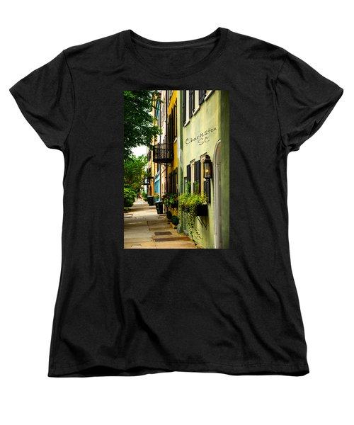 The Charm Of Charleston Women's T-Shirt (Standard Cut) by Karol Livote