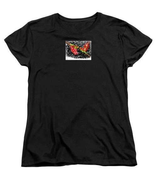 Women's T-Shirt (Standard Cut) featuring the painting The Christmas Keets by Jean Pacheco Ravinski