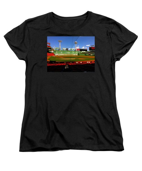 Women's T-Shirt (Standard Cut) featuring the photograph The Classic  Fenway Park by Iconic Images Art Gallery David Pucciarelli