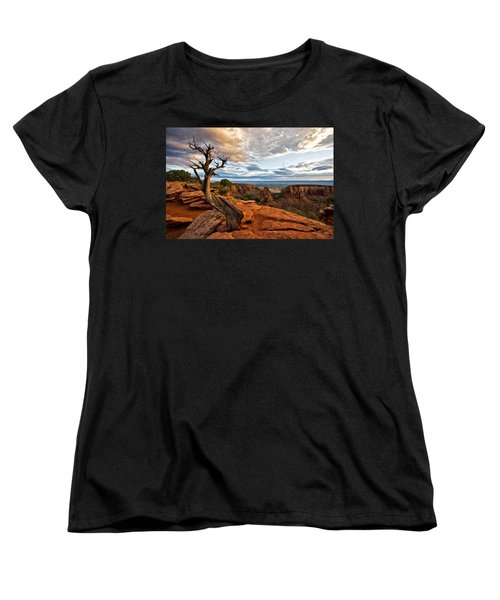 Women's T-Shirt (Standard Cut) featuring the photograph The Crooked Old Tree by Ronda Kimbrow