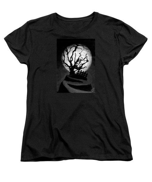 The Crooked Tree Women's T-Shirt (Standard Cut) by Salman Ravish
