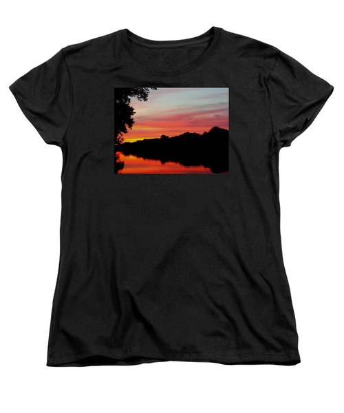 The Cumberland At Sunset Women's T-Shirt (Standard Cut) by Chris Tarpening