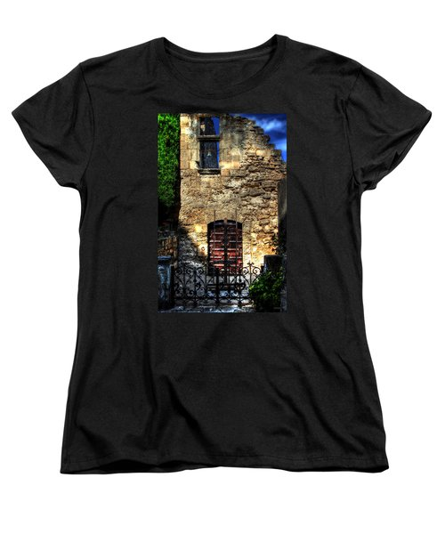 Women's T-Shirt (Standard Cut) featuring the photograph The Cypress And The Bell France by Tom Prendergast