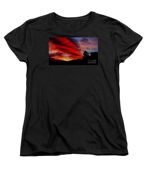 The Day Is Done Women's T-Shirt (Standard Cut) by Angela J Wright