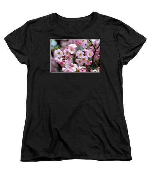 The Delicate Cherry Blossoms Women's T-Shirt (Standard Cut) by Patti Whitten