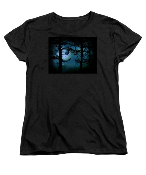 Women's T-Shirt (Standard Cut) featuring the photograph The Edge Of Twilight  by Micki Findlay