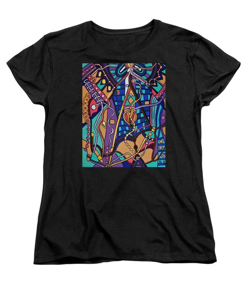 Women's T-Shirt (Standard Cut) featuring the painting The Exam by Barbara St Jean