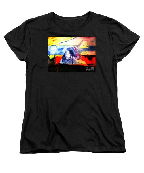 Women's T-Shirt (Standard Cut) featuring the painting The Fabric Of My Heart by Hazel Holland