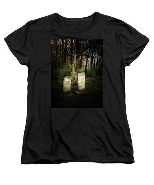 Women's T-Shirt (Standard Cut) featuring the photograph The Final Resting Place Of Ambros And Brazilla Ivins by Cynthia Lassiter