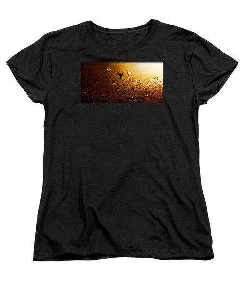 The Flight Of A Hummingbird Women's T-Shirt (Standard Cut) by Carmen Guedez