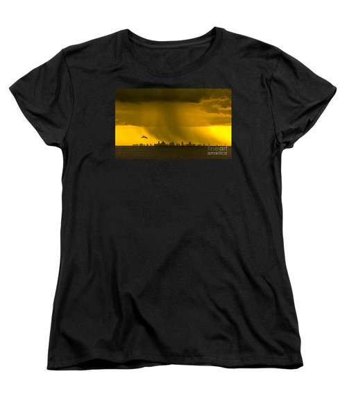 The Floating City  Women's T-Shirt (Standard Cut) by Marvin Spates