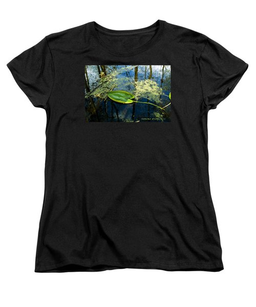 Women's T-Shirt (Standard Cut) featuring the photograph The Floating Leaf Of A Water Lily by Verana Stark