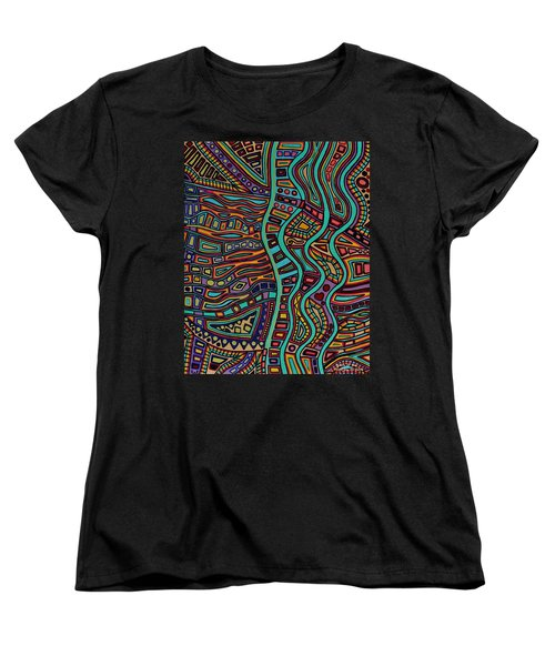 Women's T-Shirt (Standard Cut) featuring the painting The Flow by Barbara St Jean