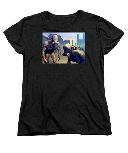 Women's T-Shirt (Standard Cut) featuring the digital art The Future Ancients by John Alexander