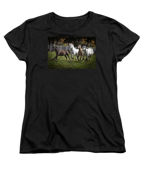 The Goldendale Four Women's T-Shirt (Standard Cut) by Wes and Dotty Weber