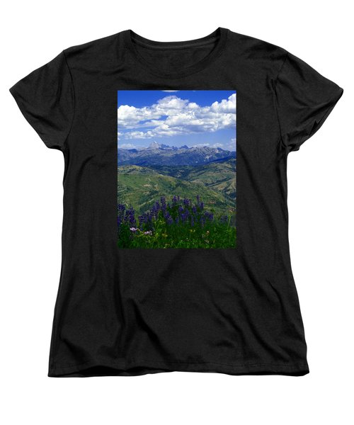 Women's T-Shirt (Standard Cut) featuring the photograph The Grand And Lupines by Raymond Salani III