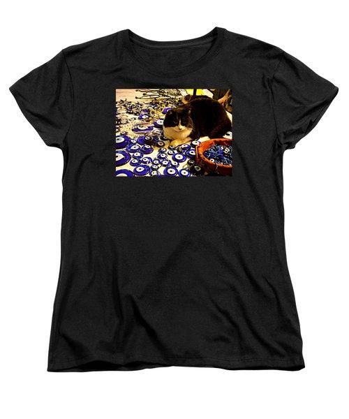 The Guard Of Evil Eye Beads Women's T-Shirt (Standard Cut) by Zafer Gurel