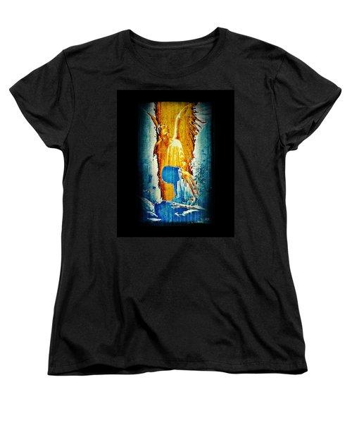 The Guardian Angel Women's T-Shirt (Standard Cut) by Absinthe Art By Michelle LeAnn Scott