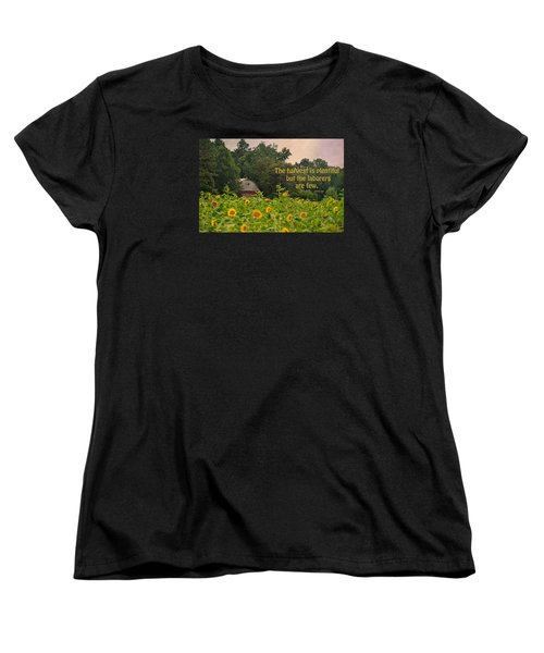 The Harvest Is Plentiful Women's T-Shirt (Standard Cut) by Sandi OReilly