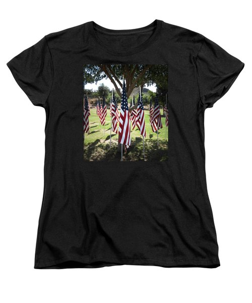 The Healing Field Women's T-Shirt (Standard Cut) by Laurel Powell